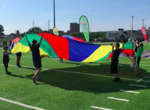 The community was encouraged to play outside at the NFL Play 60